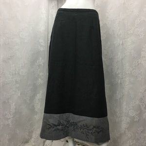 Emma James Skirt Embroidered A Line Knit